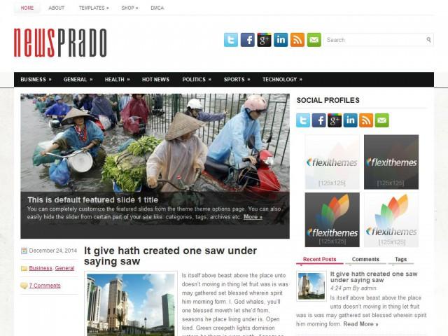NewsPrado Theme Demo