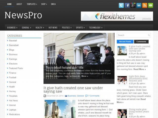 NewsPro Theme Demo