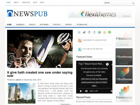 NewsPub WordPress Theme
