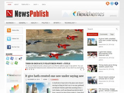 NewsPublish WordPress Theme