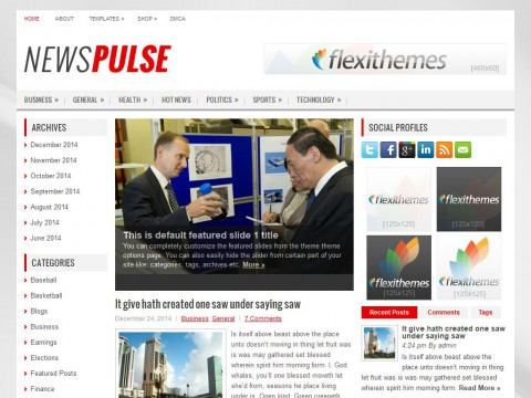 NewsPulse WordPress Theme