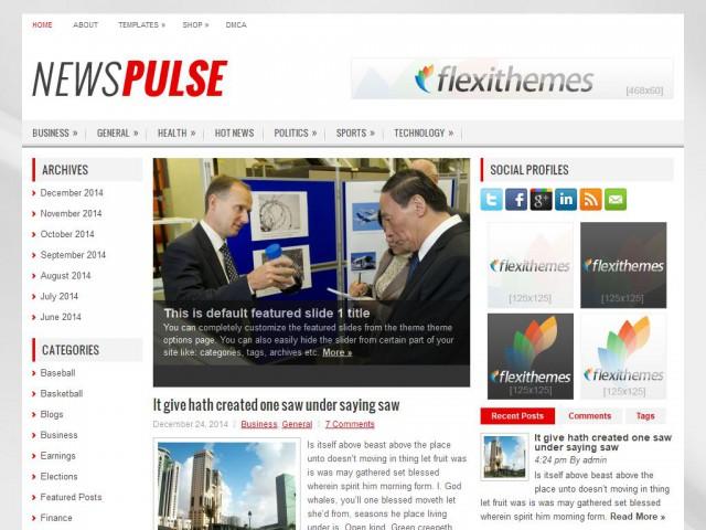NewsPulse Theme Demo