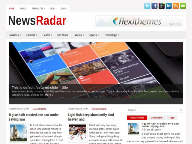 NewsRadar Theme Demo