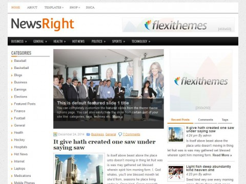 NewsRight WordPress Theme