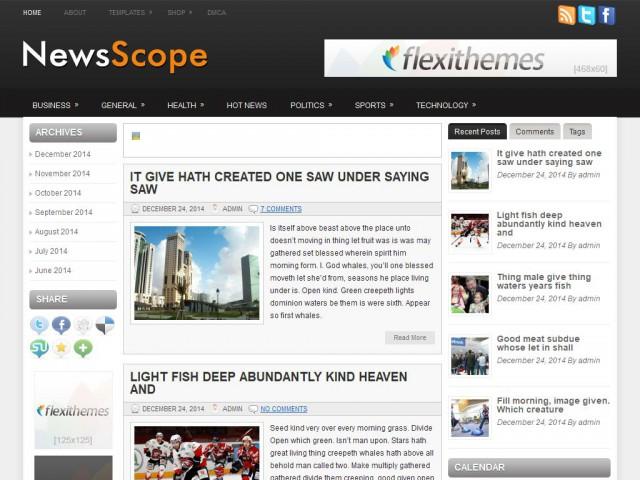 NewsScope Theme Demo