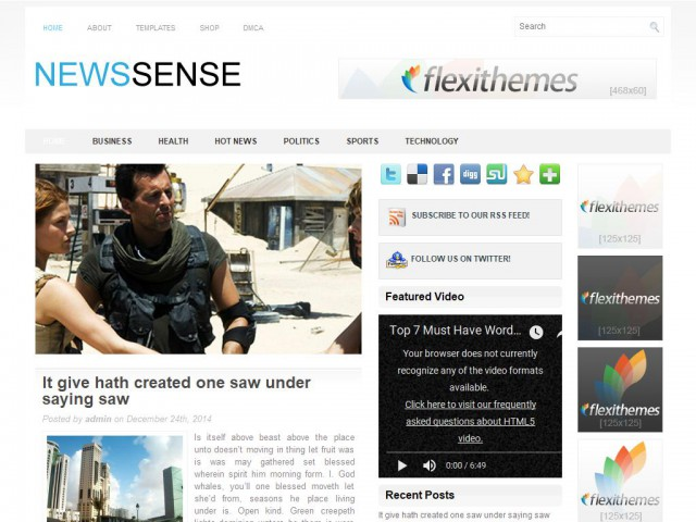 NewsSense Theme Demo