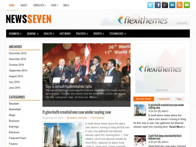 NewsSeven Theme Demo