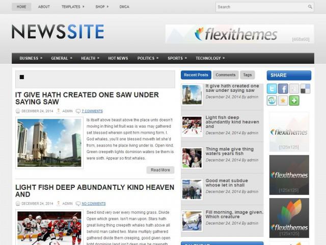NewsSite Theme Demo