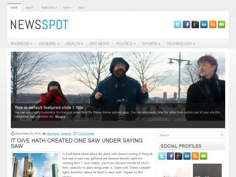 NewsSpot WordPress Theme