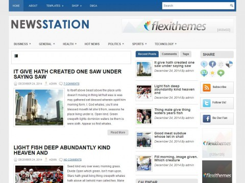 NewsStation WordPress Theme