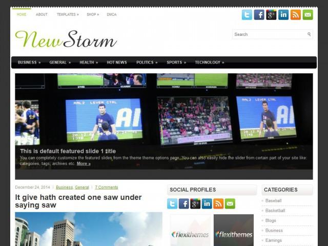 NewsStorm Theme Demo