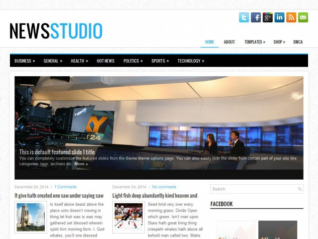 NewsStudio Theme Demo