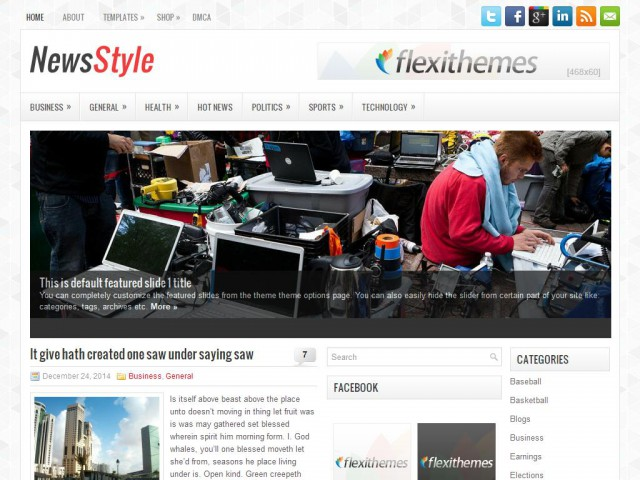 NewsStyle Theme Demo