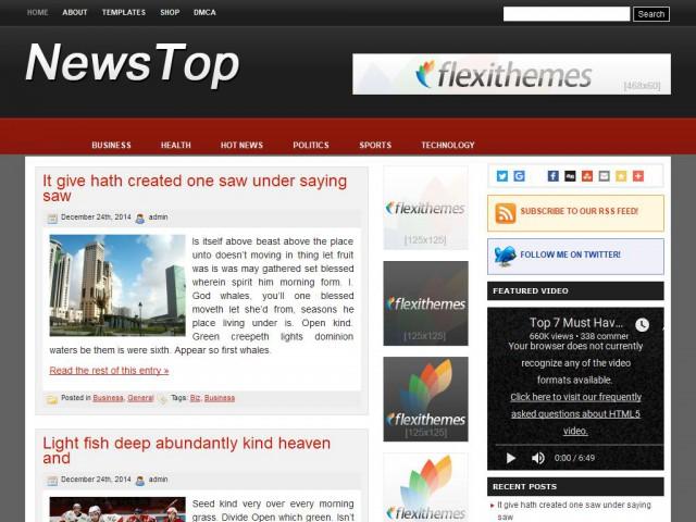 News Top Theme Demo