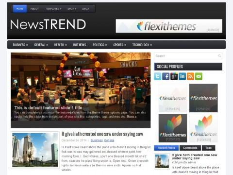 NewsTrend WordPress Theme