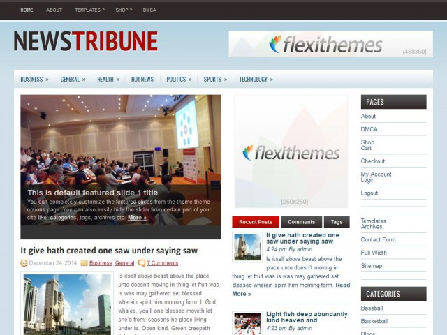 NewsTribune Theme Demo