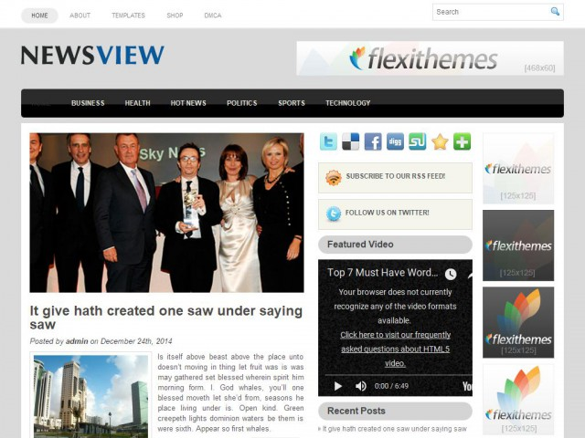 NewsView Theme Demo