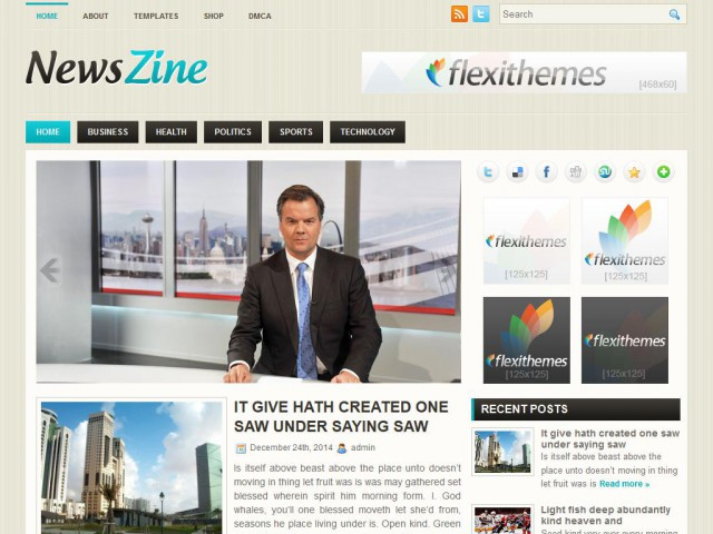 NewsZine Theme Demo