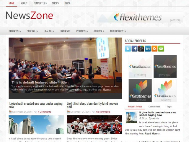 NewsZone Theme Demo