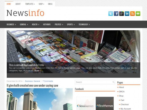 Newsinfo WordPress Theme