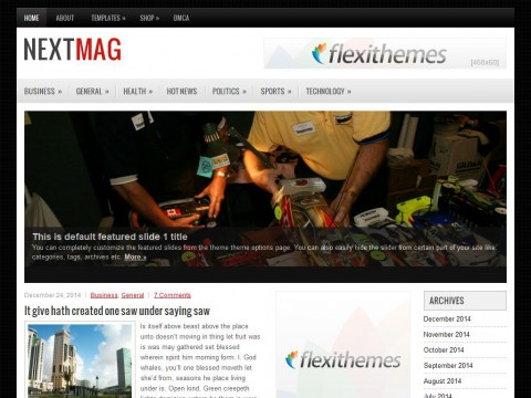 NextMag WordPress Theme