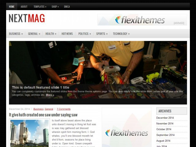 NextMag Theme Demo