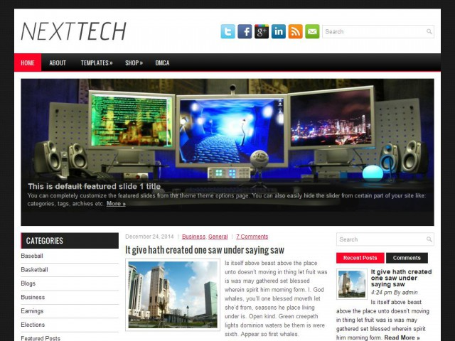 NextTech Theme Demo