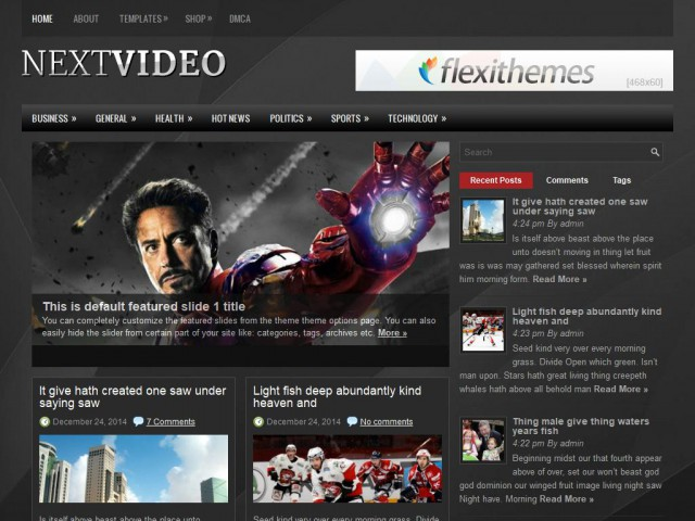 NextVideo Theme Demo