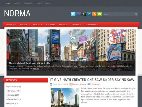 Norma WordPress Theme
