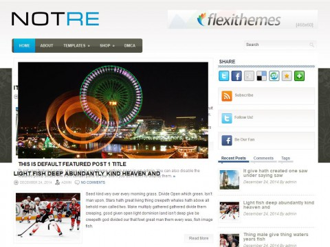 Notre WordPress Theme