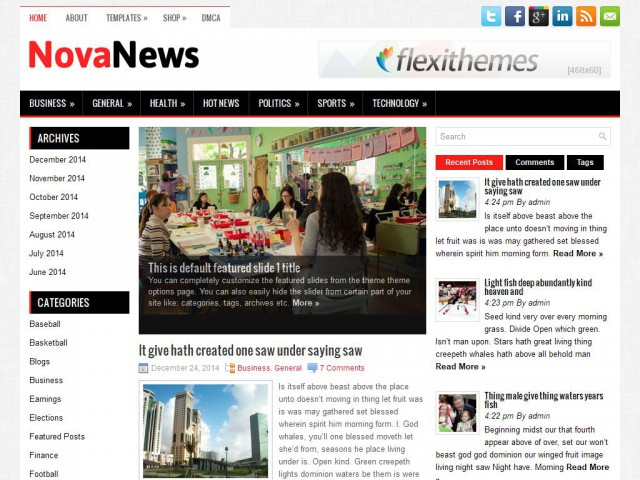 NovaNews Theme Demo