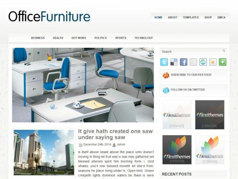 OfficeFurniture WordPress Theme