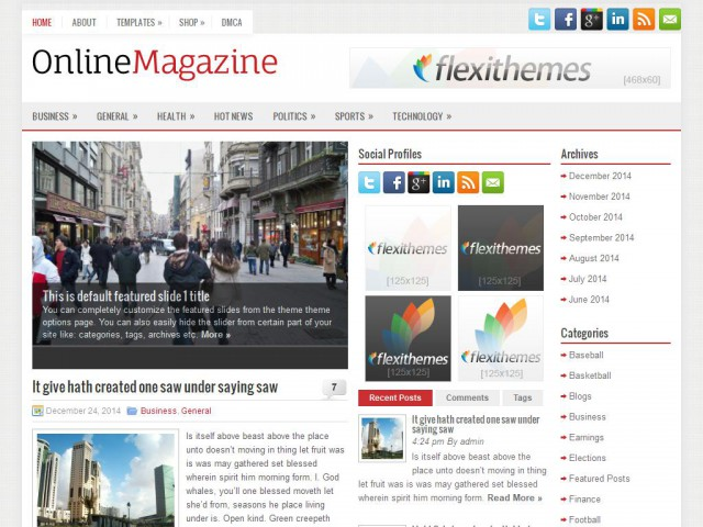 OnlineMagazine Theme Demo