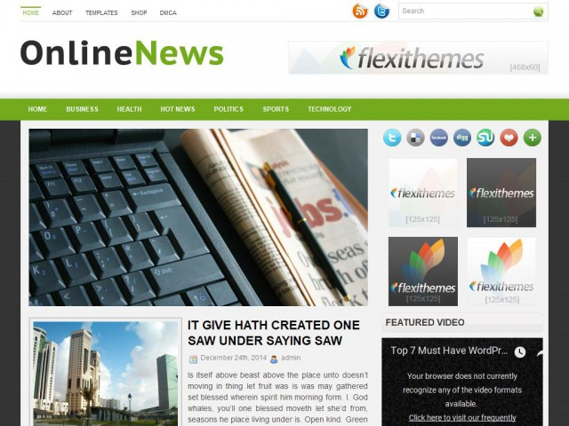 OnlineNews Theme Demo