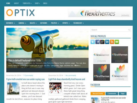 Optix WordPress Theme