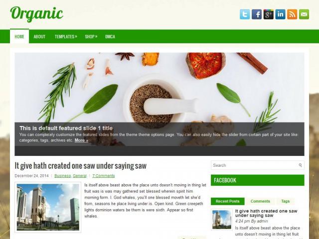 Organic Theme Demo