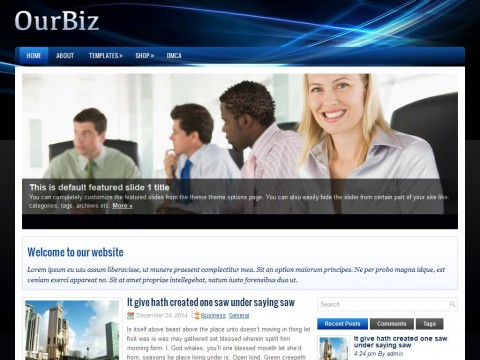 OurBiz WordPress Theme