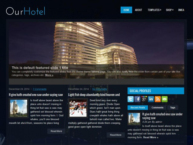 OurHotel Theme Demo