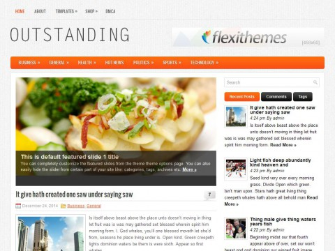 Outstanding WordPress Theme