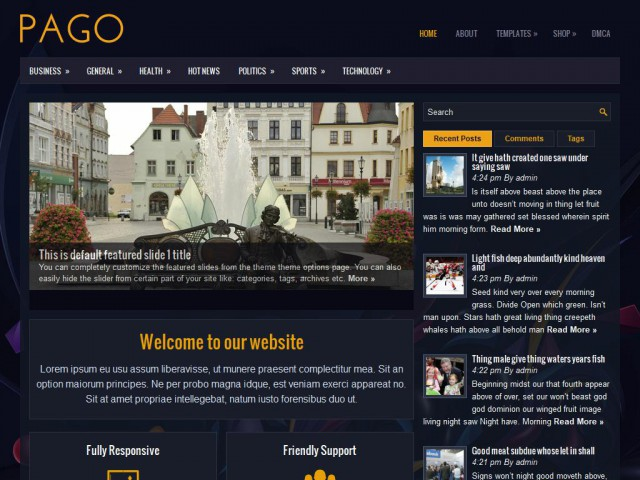 Pago Theme Demo