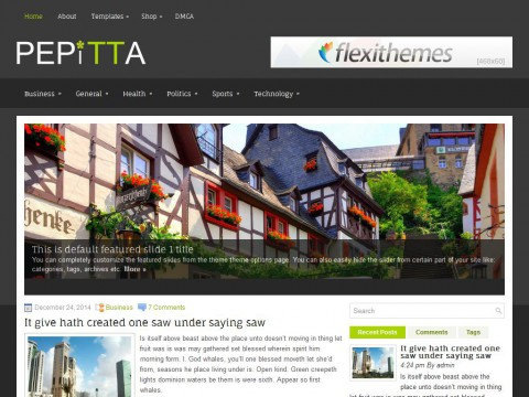 Pepitta WordPress Theme