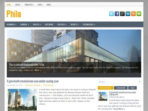 Phila WordPress Theme