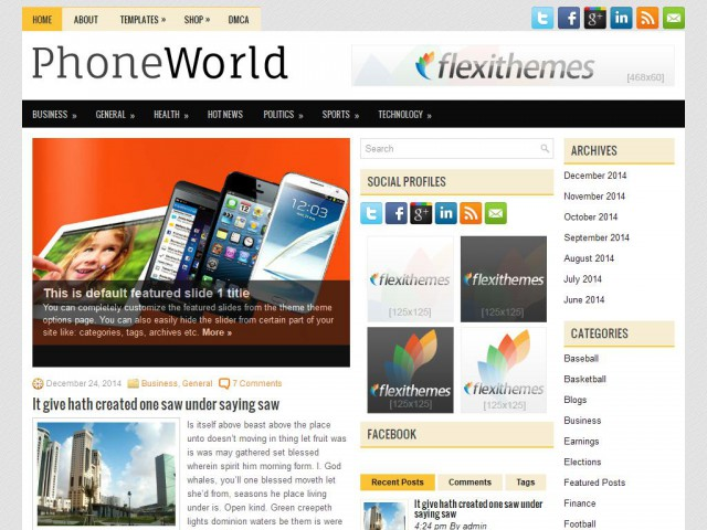 PhoneWorld Theme Demo