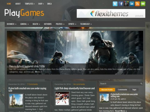 PlayGames WordPress Theme