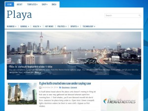 Playa WordPress Theme