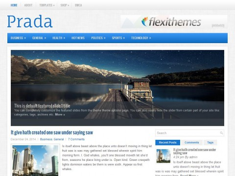 Prada WordPress Theme