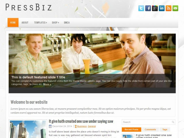 PressBiz Theme Demo