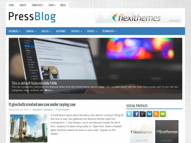 PressBlog Theme Demo