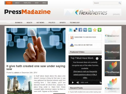 PressMagazine WordPress Theme