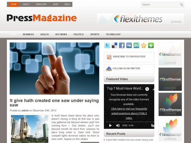 PressMagazine Theme Demo